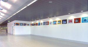 Palma-München-Amsterdam <br> <br>Ausstellungsansicht Flughafen Münster-Osnabrück<br> 2002