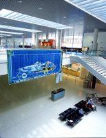Speedboat <br> 2002<br><br> Farbdruck auf LKW-Plane <br> 259 x 606 cm <br> Flughafen Münster Osnabrück <br> <br> <font color=808080>Color-Print on tarpaulin <br> 102 x 238 inch <br> Airport Münster-Osnabrück </font>
