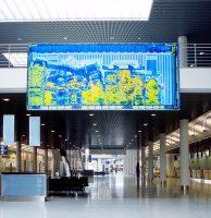 Umsiedlungsgut <br> 2002<br><br> Farbdruck auf LKW-Plane <br> 259 x 606 cm <br> Flughafen Münster Osnabrück <br> <br> <font color=#808080>Color-Print on tarpaulin <br> 102 x 238 inch <br> Airport Münster-Osnabrück </font>