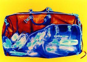 Reisetasche Gelb 60 x 85 <br> 1999<br><br> C-Print, 60 x 85 cm