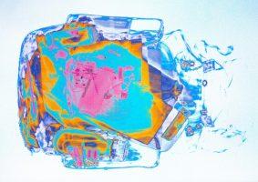 Rucksack weiß <br> 1999<br><br> C-Print, 60 x 85 cm