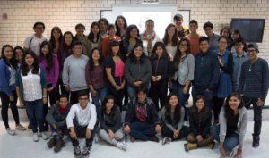 Projektteilnehmer und<br>–  nehmerinnen <br>der Preparatoria 8 <br> Miguel E. Schulz<br><br>Mexico-City <br><br><font color=#808080>los participantes del proyecto <br>de la preparatoria 8 <br> Miguel E. Schulz<br><br> Ciudad de Mexico     <br>